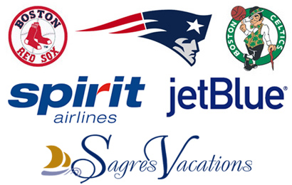 JetBlue, Spirit Air, Sagres Vacations, Boston Red Sox, Boston Celtics, NE Patriots tickets