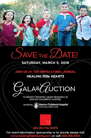 Save The Date - March 5, 2016 - Healing little Hearts